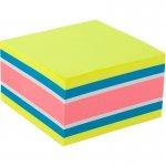 Блок паперу з клейким шаром, 75x75 мм, 450 аркушів. Асорті кольорів. Щільність 75 г/м2. (2326-51-a)