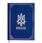 Ежедневник датированный 2022 UKRAINE, A5, блок - белый, синий (BM.2128-02)