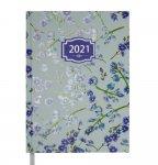 Ежедневник датированный 2022 BLOSSOM, A5, блок - белый, голубой (BM.2136-14)
