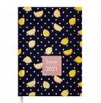 Ежедневник датированный 2022 SAVE, A5, блок - белый, черный (BM.2167-01)