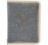 Папка об'ємна на блискавці, А4+, Shade. Матеріал: пластик зі структурою, що імітує тканину, з тканинною окантовкою (1804-15-a)