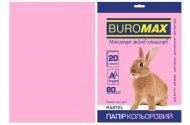 Папір кольоровий PASTEL, рожевий, 20 арк., А4, 80 г/м² (BM.2721220-10)