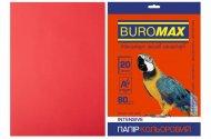 Папір кольоровий INTENSIVE, червоний, 20 арк., А4, 80 г/м² (BM.2721320-05)