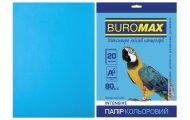 Папір кольоровий INTENSIVE, св.-синій, 20 арк., А4, 80 г/м² (BM.2721320-30)