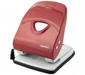Діркопробивач металевої серії Exakt-2. Потужність до 40 аркушів. Висувна лінійка зі шкалою форматів. Колір червоний. Картонна упаковка. (3940-06-a)