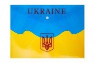 Папка-конверт на кнопці, А4, UKRAINE, ARABESKI, жовта (BM.3955-08)