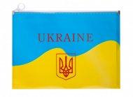 Папка на ZIP, А4, UKRAINE, ARABESKI, жовта (BM.3962-08)