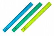 Лінійка пластикова, 30см, матова - Асорті. Дві шкали у сантиметрах. Індивідуальна блістерна упаковка. (d9800-хх)