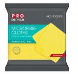 Серветки з мікрофібри, універсальні, 38х38, 3шт, жовті (48уп/ящ) PRO SERVICE (pr.18303200)