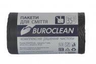 Пакеты для сміття 35л/50шт, Eurostandart, міцні, чорні BuroClean (10200016)