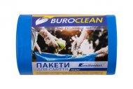 Пакети для сміття 60л/40 шт, міцні, сині 600х800мм, 21мкм BuroClean EuroStandart (10200037)