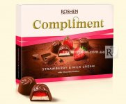 Цукерки Roshen Compliment Strawberry & Milk cream 123г (0149588)