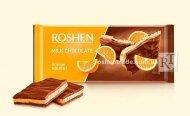 Шоколад Roshen молочний з апельсиновою нугою 90г (0148349)