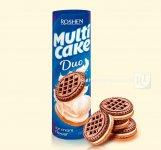 Печиво-сендвіч Roshen Multicake DUO з начинкою зі смаком пломбіру 180г (0149676)