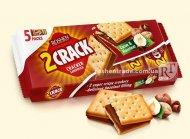 Крекер 2 CRACK з начинкою какао-горіх Roshen 235г (0149948)