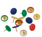 Кнопки кольорові, пластикове покриття шляпки, 100шт. Пластиковий контейнер. (4214-a)
