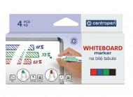 Набір маркерів Board 8559, для написів на сухостираємих дошках і гладких поверхнях (емаль, скло), 4 кольори (зелений, синій, червоний, чорний), круглий пишучий вузол, ширина лінії 2,5 мм, картонна упаковка з европідвісом. Вироблено в Чехії. (8559/4/cb)