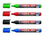 Маркер Board e-360, для написів на сухостираємих дошках і гладких поверхнях (емаль, скло), АСОРТІ, круглий пишучий вузол, ширина лінії 1,5-3 мм. Вироблено в Німеччині. (e-360/хх)