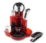 Набір настільний Cascade. 9 предметів. Колір червоний. Картонна коробка. (2105-06-a)