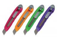 Ніж канцелярський,18мм. Асорті кольорів. Упаковка полібег. (6402/01/p-a)