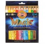 Набір багатобарвних олівців KOH-I-NOOR MAGIC 3 in 1, 12 шт. + блендер (340801)