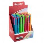 Ручка масляна Axent Reporter Color. Прогумований корпус, Рельєфна область тримання. Автоматична. Асорті кольорів корпуса. Пишучий вузол - 0,7мм. Колір чорнила: синій. (ab1069-02-a)