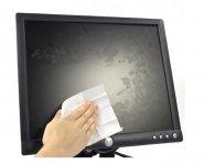Серветки по догляду за екранами, вологі, 100шт. Не містять спирту. Матеріал - крепований папір. Мають антистатичні властивості. Термін придатності: 24міс. Упаковка: герметичний пакет. (d5312)
