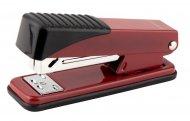 Степлер металевий серії Exakt-2. Скоба №24/6. Потужність до 25 аркушів. Глибина скріплення 65мм. Колір червоний. Картонна упаковка. (4926-06-a)