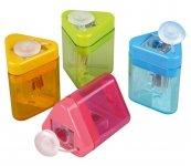 Тригранна пластикова точилка з контейнером